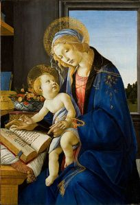 327px-Sandro_Botticelli_-_The_Virgin_and_Child_(The_Madonna_of_the_Book)_-_Google_Art_Project