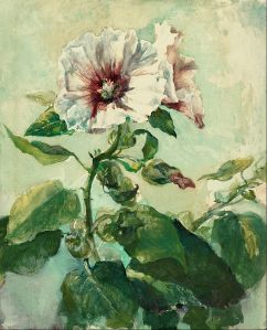 John_La_Farge_-_Study_of_Pink_Hollyhocks_in_Sunlight,_from_Nature_-_Google_Art_Project